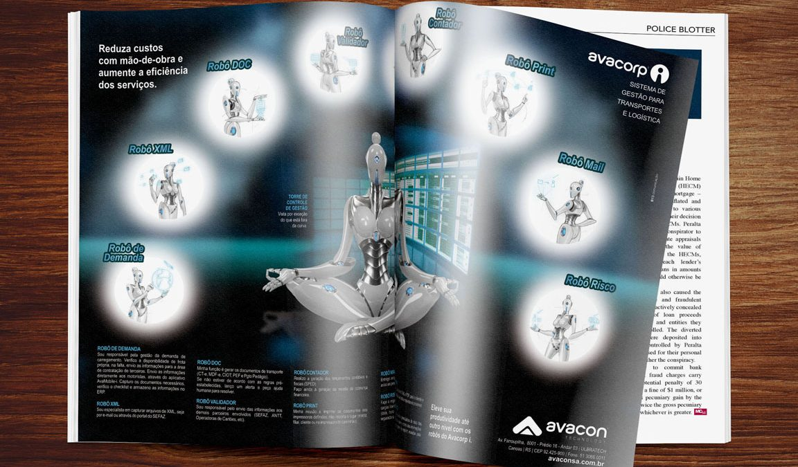 Criação e Design Impresso Anúncio e Press Pelease em Revista e Jornal e ilustração 3D