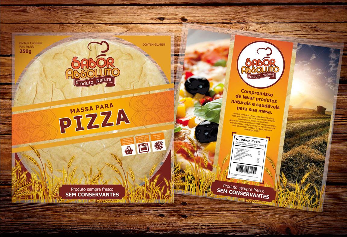 Criação de embalagem plástica para alimento pão pizza bolo