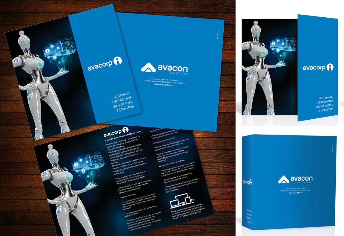 Criação e Design Impresso Folheto Flyer Folder Catálogo e ilustração 3d