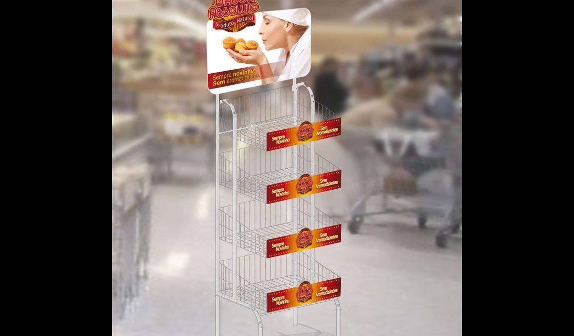 Criação PDV display alimento