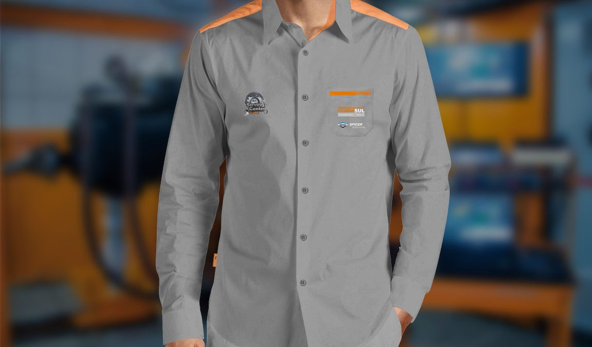 Criação design uniforme camisa social