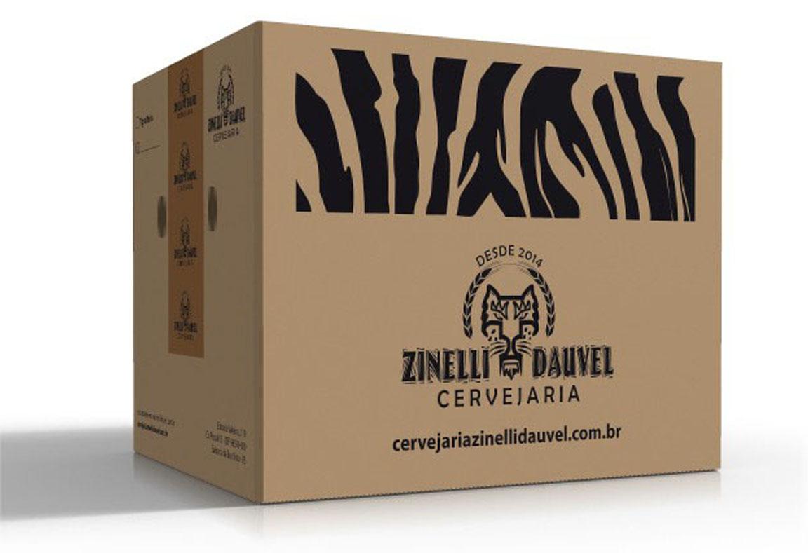 Criação embalagem caixa de papelão de transporte para garrafas