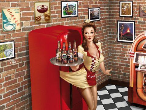 Criação Design e Ilustração 3D para Cartaz PDV Ponto De Venda Cerveja