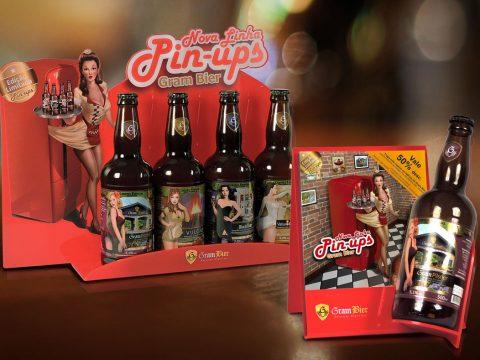 Criação Design e Ilustração 3D para Cartaz Display PDV Ponto De Venda Cerveja