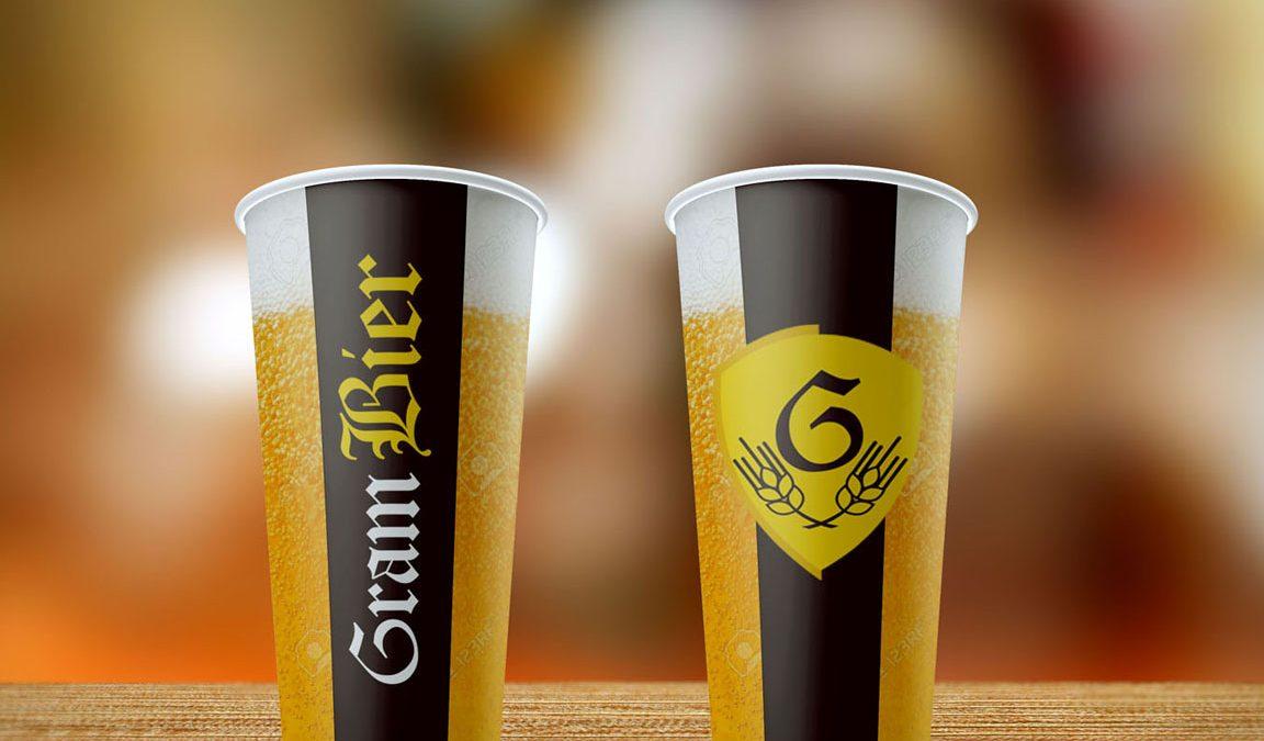 Criação e Design para Rótulo e Copos de Cerveja