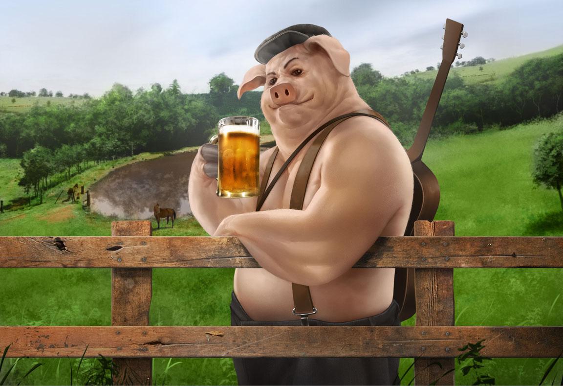 Ilustração 3D para Rótulo de Cerveja