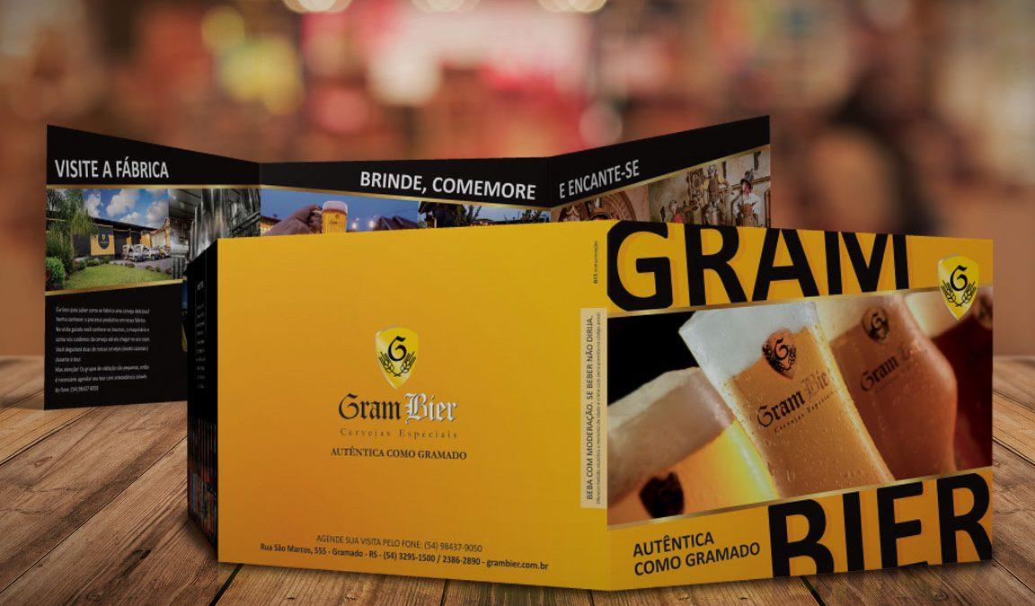 Folder Gram Bier divulgação impresso