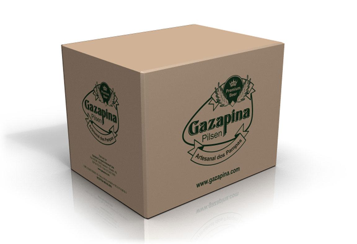 Embalagem, caixa de papelão para transporte Gazapina