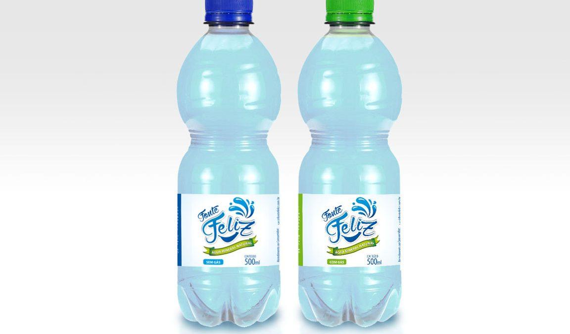 Logotipo e Rótulo, criação de logotipo, Água Mineral Natural Fonte Feliz