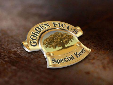 Logotipo, criação de nomes e logotipos para cervejas artesanais, golden ficus, branding