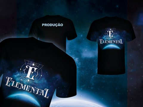 Camiseta, uniforme, t-shirt, elemental festival o despertar