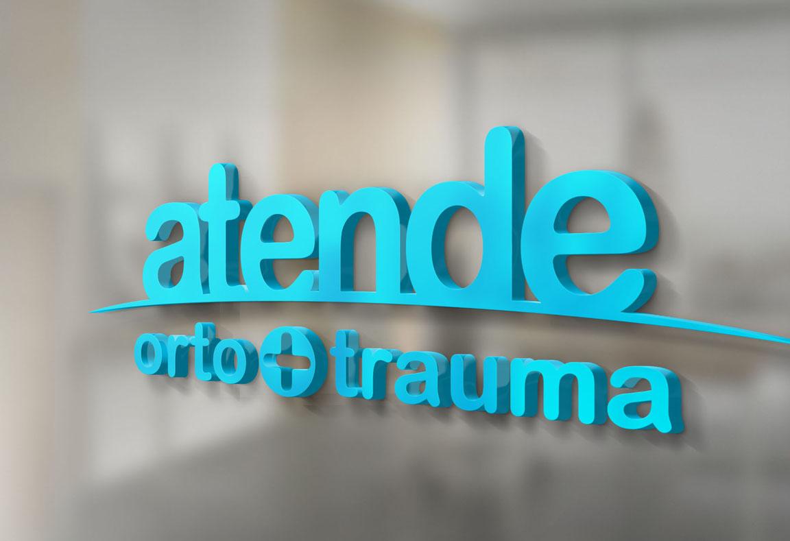Logotipo, criação de logotipo e identidade visual, Atende Ortopedia e Traumatologia
