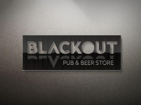 Logotipo, criação de logotipo, Blackout Pub & Beer Store