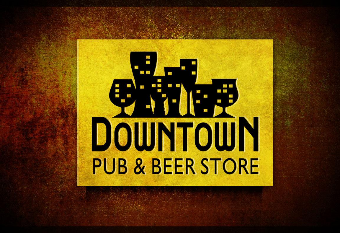 Logotipo, criação de logotipo, Downtown Pub & Beer Store, Gramado, RS
