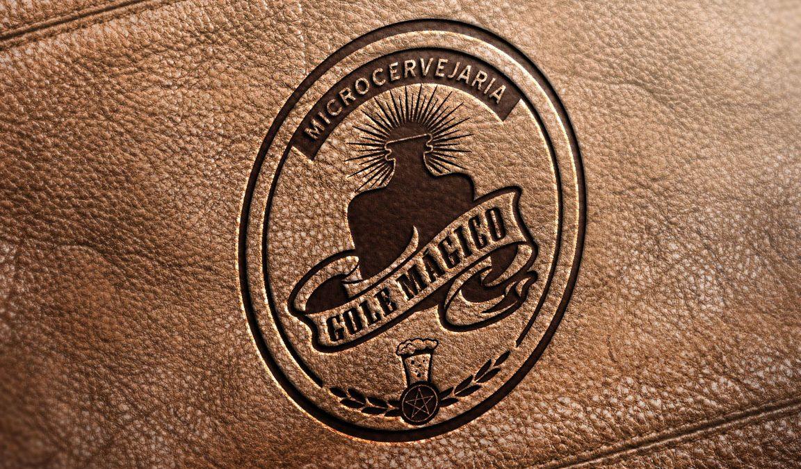 Logotipo, criação de logotipo, cervejaria Gole Mágico, design, marketing cervejeiro