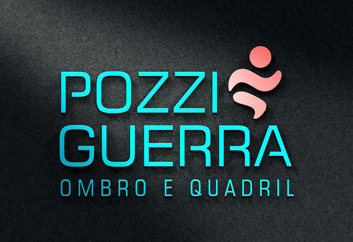 Logotipo, criação de logotipo Pozzi Grerra Ombro e Quadril, identidade visual