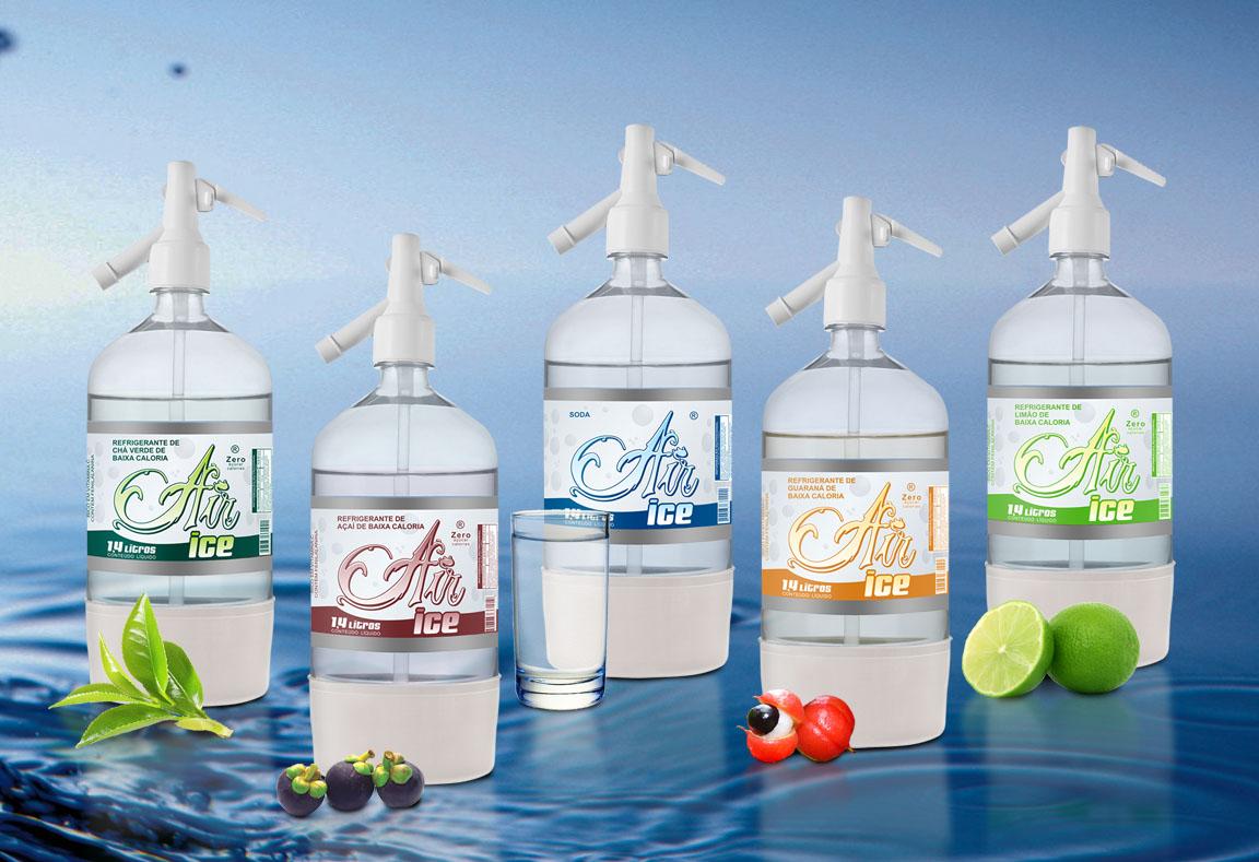 Criação e Design para Rótulo e Embalagem de água mineral, rótulo sleeve para garrafa pet