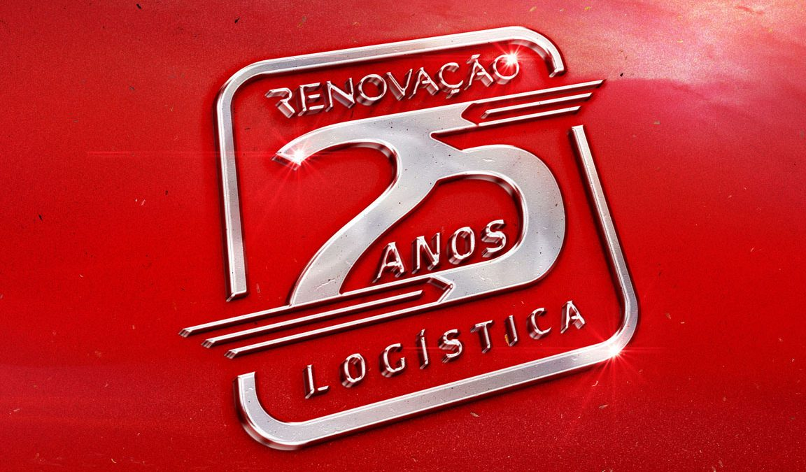 Selo 25 anos Renovação Logística,, Logotipo, criação de logotipo, design de marcas, branding, identidade visual